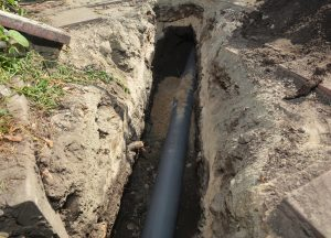 a sewer line in need of repair.